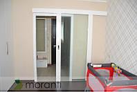 Дверь раздвижная со стеклом межкомнатная