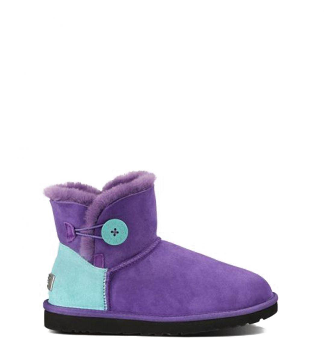 Женские угги UGG Bailey Button Mini Neon Purple (оригинал) , фото 1