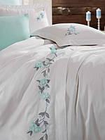 Комплект белья сатин с вышивкой Dantela Vita Sude mint
