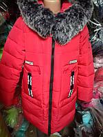 Куртка зимняя для девочки на флизе