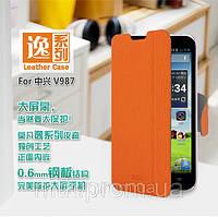 Чехол-книжка MOFI для телефона ZTE V987\V967S оранжевый