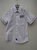"""Белая рубашка для мальчиков 128,134,140,146,152,158,164 роста """"A-yugi 76"""""""