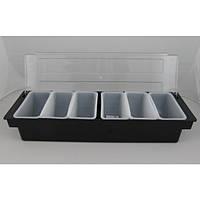 Ящик барный (холдер) 6 отделений 50х16х9 см. черный FoREST