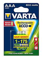 Аккумулятор ACCU Varta 800 mAh AAA BL2 R2U