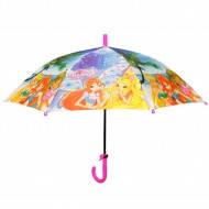 Зонт детский трость для девочек. феи Винкс. Холодное Сердце