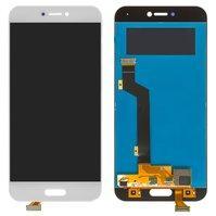 Дисплей для мобильного телефона Xiaomi Mi5C, белый, с сенсорным экрано