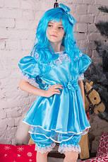 Дитячий костюм Мальвіни для дівчинки 3,4,5,6,7 років. Карнавальный костюм плаття Мальвіни, фото 3