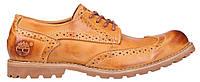 Мужские туфли Timberland Earthkeepers Leather Тимберленд коричневые c желтым