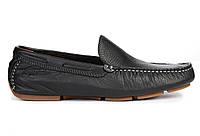 Мужские кожаные мокасины Timberland Moccasins Leather Black Тимберленды черные