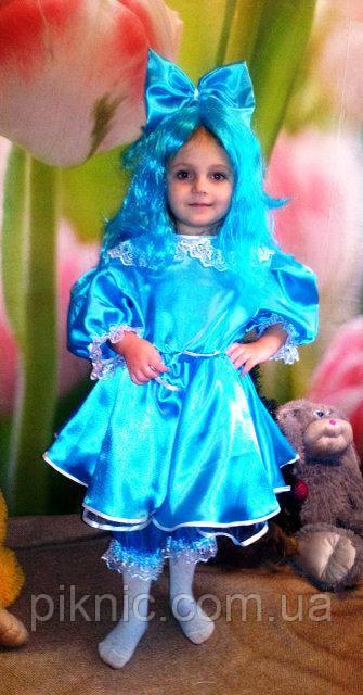 Дитячий костюм Мальвіни для дівчинки 3,4,5,6,7 років. Карнавальный костюм плаття Мальвіни