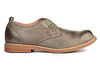 Мужские туфли Timberland Oxford Тимберленд Тимберленды серые