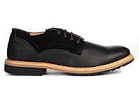 Мужские туфли Timberland Leather Black Тимберленд черные