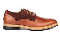 Мужские туфли Timberland Leather Chestnut Тимберленды коричневые