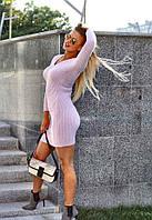 Вязанное женское платье-резинка (3 цвета)