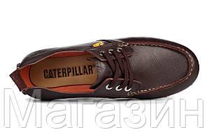 Мужские мокасины Caterpillar CAT Brown Катерпиллер коричневые, фото 2