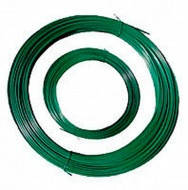Проволока вязальная ф-1.2мм (не оцинкованный)+1 мм ПВХ (зелёный) L=100м