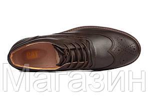 Мужские туфли Caterpillar CAT Катерпиллер коричневые, фото 2