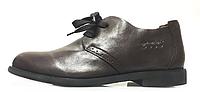 Мужские кожаные туфли ECCO Derby Brown Экко коричневые