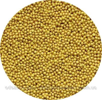 Сахарные бусинки-золото 1 мм