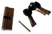 Сердцевина для замка 80мм (40х40) с лазерными ключами ключ/ключ (5кл)