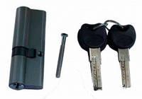 Сердцевина для замка ZC 90мм (35х55) с лазерн.ключами к/ключ (12шт/уп) (сатин SN) (5кл)