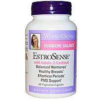 Natural Factors, WomenSense, EstroSense, Гормональный баланс, 60 растительных капсул
