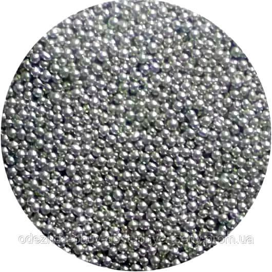 Сахарные бусинки-серебро
