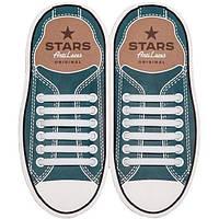 Силиконовые антишнурки AntiLaces Stars Белый 56,5мм //
