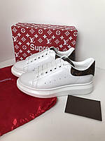 Крутые женские кеды Louis Vuitton Supreme канва