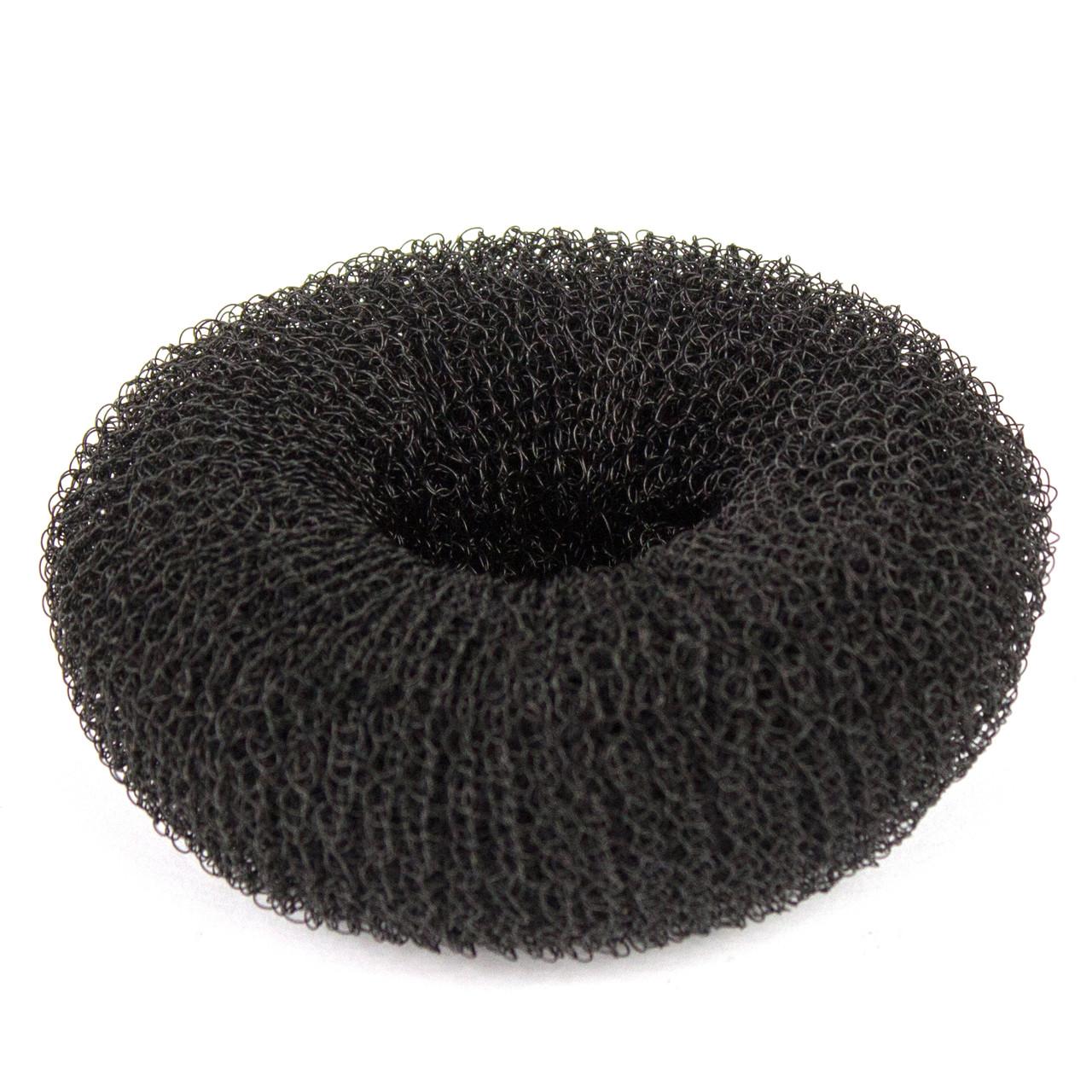 """Подкладка-кольцо для создания причёски """"пучок"""" 65 мм черная"""