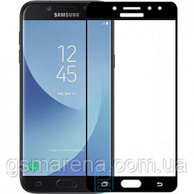 Защитное стекло Samsung J7 2017 J730 Full Screen black тех.пакет