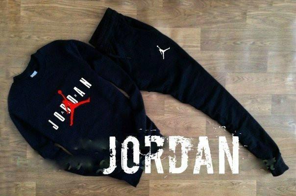 Черный мужской спортивный костюм реглан Jordan (Джордан)