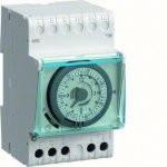 Таймер аналоговый недельный 16А 1 переключаемый контакт резерв хода 200 час 3м, фото 1