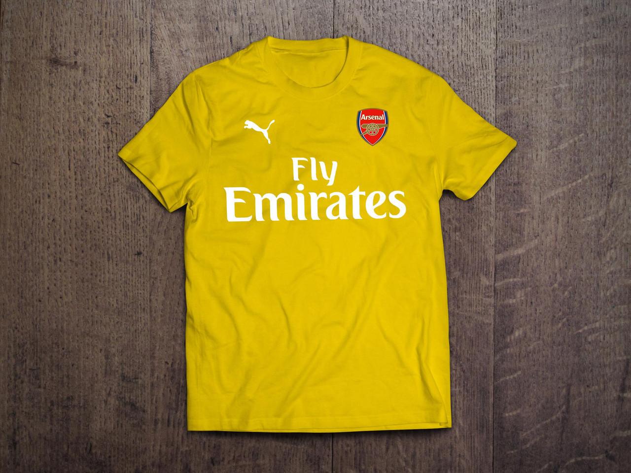 Клубная футболка Арсенал, желтая, ХБ, КП5