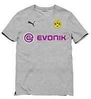 Клубная футболка Боруссия, серая, ХБ, КП2