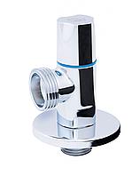 Кран угловой хромированный с керам.буксой (круглая) НН (SF341) ''SD FORTE'' для бытовых приборов (5102A)