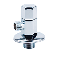 Кран угловой хромированный с керам.буксой (шестигран) НН (SF341) ''SD FORTE'' для бытовых приборов (5101A)