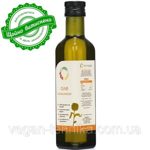 Подсолнечное масло холодного отжима (сыродавленное)