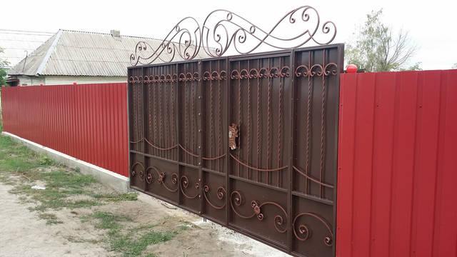 Кованые ворота -1