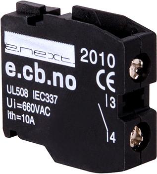 Блок-контакт e.cb.stand.la.no зеленый нормально-открытый