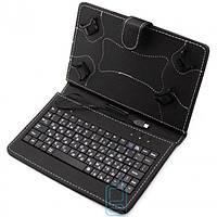 Чехол-клавиатура 7 дюймов Micro USB уголки-магнит Черный