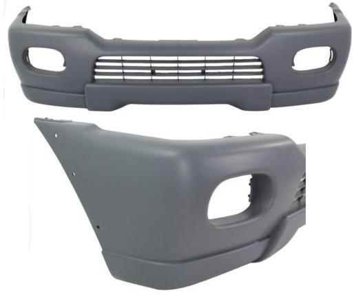 Бампер передний Mitsubishi Pajero Sport 00-08 черный (FPS)