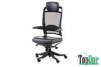 Кресло офисное Special4You FULKRUM BLACK LEATHER, BLACK MESH E0642