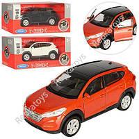 """Машинка металл WELLY """"Hyundai Tucson"""" 3 поколение, 3 цвета (ОПТОМ) 43718CW"""