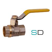 Кран шаровой SD Sandi Plus ручка стальной рычаг РГГ для газа