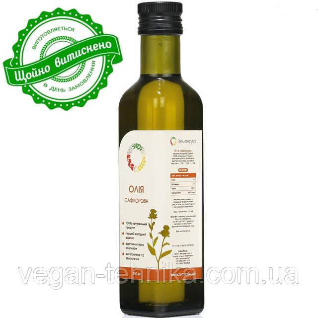 Сафлоровое масло холодного отжима (сыродавленное)