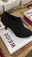 Туфли чёрные женские каблуке оптом Размеры 36-41