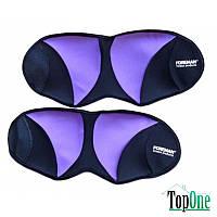 Отягощение FOREMAN для рук/ног фиксированное 1 кг/шт, фиолетовый/черный, пара