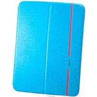 Чехол-книжка для Samsung Galaxy Tab 4 10.1 силиконовая накладка Lishen Голубой