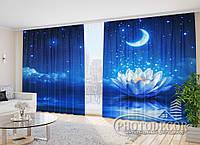 """Фото шторы """"Лилия на небе"""" 2,7м*2,9м (2 половинки по 1,45м), тесьма"""